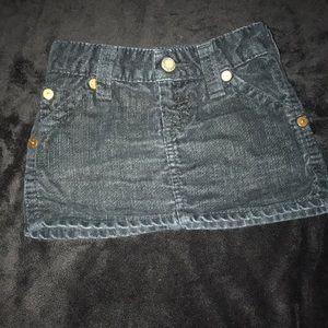 True Religion Black Corduroy Toddler Skirt Size 4T